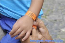 etiqueta de identificação para criança