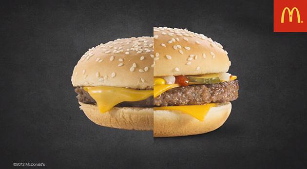 Aparência da comida nas fotos e na realidade