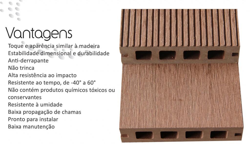 vantagens da madeira plástica